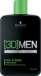 Schwarzkopf Professional [3D]MEN Hair & Body Shampoo 250ml