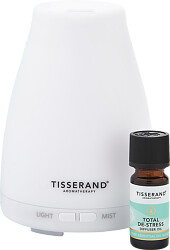 Tisserand Aromatherapy Total De-Stress Aroma Spa Diffuser & Oil Blend Set