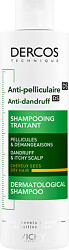 Vichy Dercos Anti-Dandruff Shampoo for Itchy Scalp, Dry Hair 200ml