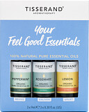 Tisserand Aromatherapy Your Feel Good Essentials Oil Kit 3 x 9ml