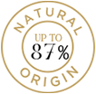 Up to 87% Natural Origin